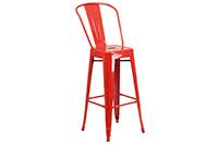 Marais Metal Barstool Back - Red