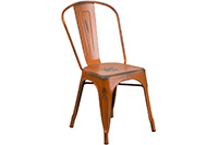 Marais Metal Chair - Distressed Orange