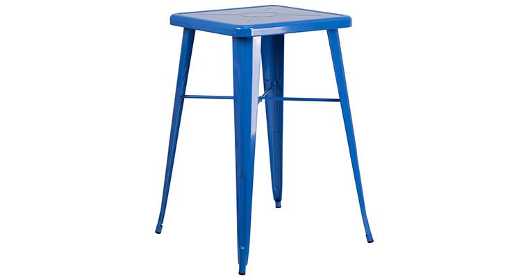 Marais Metal Highboy Table – Blue