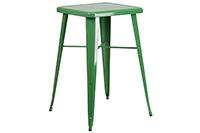 Marais Metal Highboy Table - Green