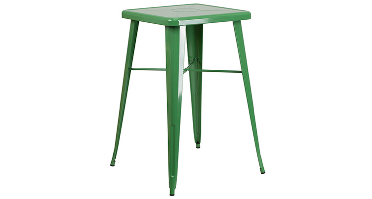 Marais Metal Highboy Table – Green