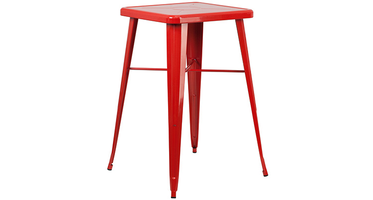 Marais Metal Highboy Table – Red
