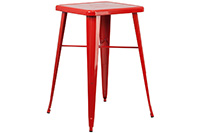 Marais Metal Highboy Table - Red