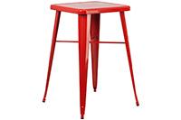 Marais Metal Highboy Table - Red