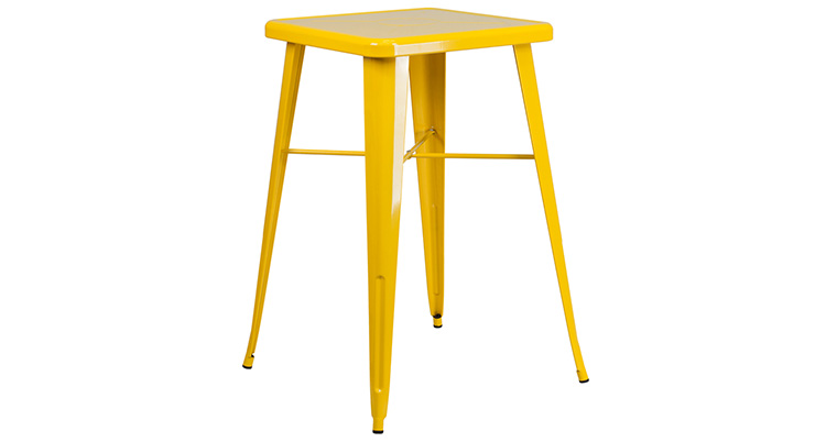 Marais Metal Highboy Table – Yellow