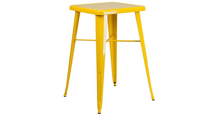 Marais Metal Highboy Table – Yellow