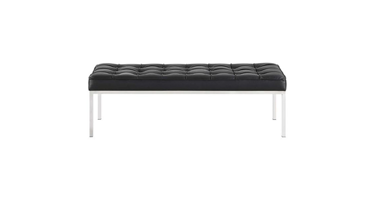 Knoll Leather Bench – Black