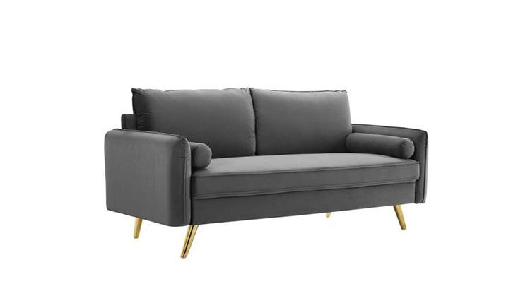 Mod Velvet Sofa – Grey