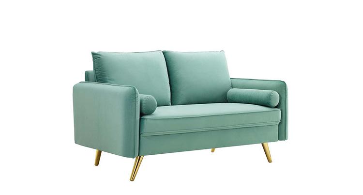Mod Velvet Sofa – Mint
