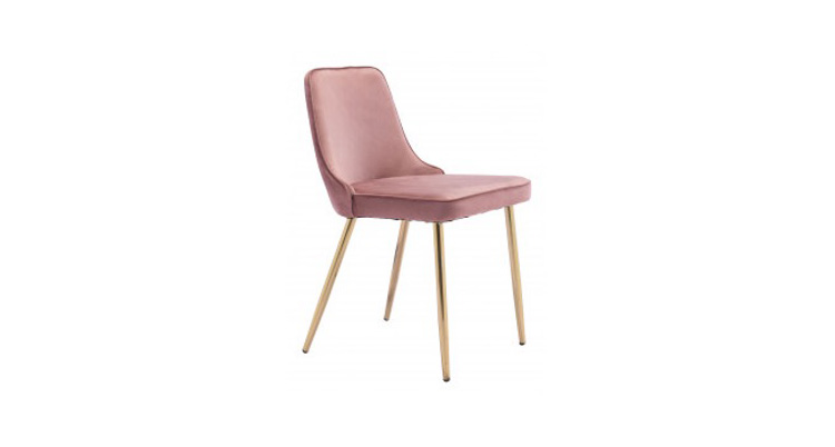 Velvet Dining Chair – Pink