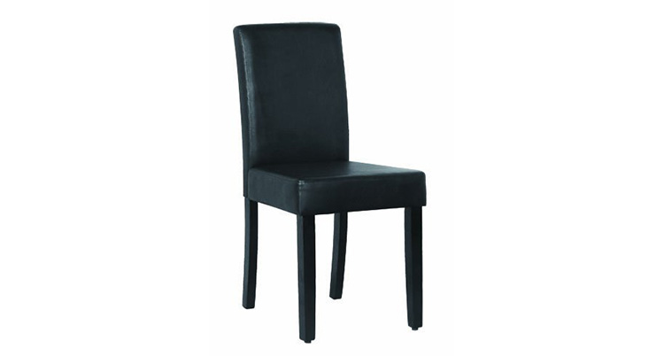 Leather Dining Chair – Black